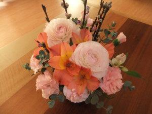 うれしい気持ちをお花で表現してみました